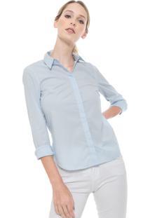 Camisa Lacoste Logo Azul