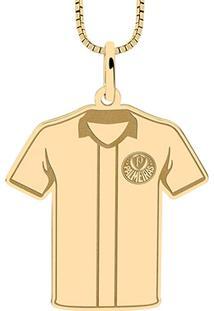 Pingente Palmeiras Infantil Camisa Do Palmeiras Folheado A Ouro - Unissex