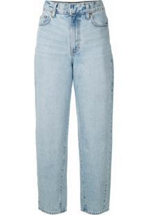 Nobody Denim Calça Jeans Porter Cintura Alta - Azul