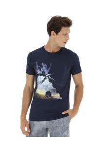 Camiseta O'Neill Estampada Canopy - Masculina - Azul Escuro