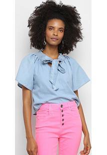 Blusa My Favorite Thing (S) Amarração Feminina - Feminino-Jeans
