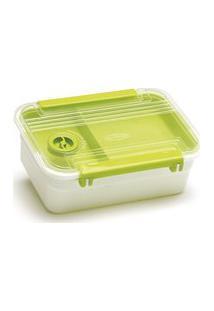 Conjunto Pote Plástico Marmita Bandeja E Válvula 800Ml 10Un