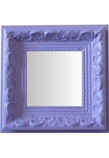 Espelho Moldura Rococó Raso 16238 Lilás Art Shop