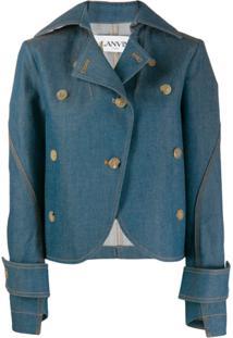 Lanvin Asymmetric Cut Denim Jacket - Azul