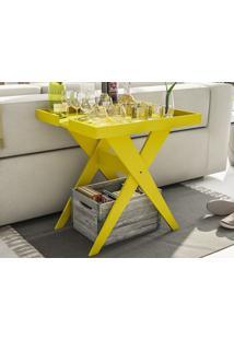 Mesa Lateral Sweet Amarelo - Líder Design