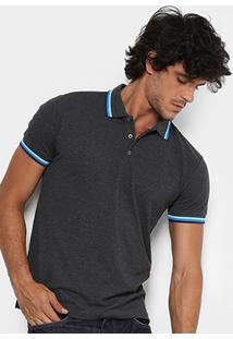 Camisa Polo Colcci Piquet Frisos Color Masculina - Masculino