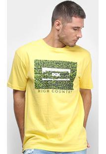 Camiseta Dgk High Country Masculina - Masculino-Amarelo