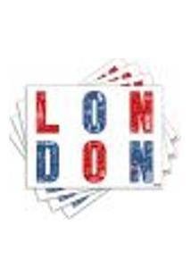 Jogo Americano - London Com 4 Peças - 672Jo
