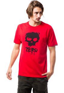 Camiseta Zero Classic Logo Branco/Vermelho