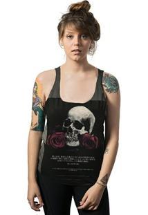 Regata Feminina Skull Lab Cavada Corte A Fio Skull Wars - Feminino