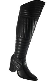 Bota Blues Clave De Fá Over The Knee - Feminino-Preto