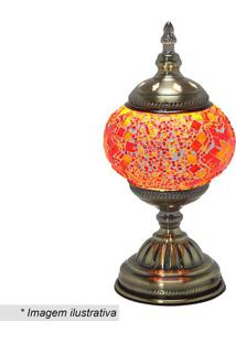 Abajur- Ouro Velho & Laranja- 28X13,5X13,5Cm- Bimabruk