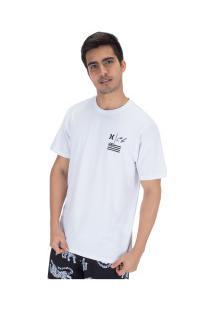 Camiseta Hurley Silk Cl Underwate - Masculina - Branco