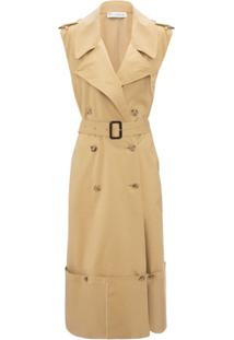 Jw Anderson Trench Coat Sem Mangas - Marrom