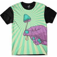 Camiseta Long Beach Cogumelo Sublimada Masculina - Masculino-Roxo+Preto e983d97a4ff97