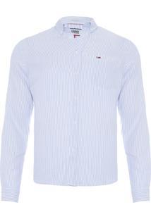 Camisa Masculina Oxford Classics - Azul
