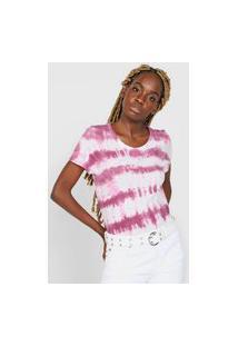 Camiseta Gap Tie Dye Rosa/Branca