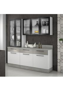 Cozinha Compacta Exclusive Iii 8 Pt 3 Gv Branca