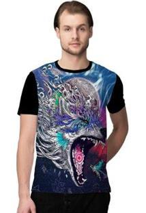 Camiseta Stompy Psicodelica7 Masculina - Masculino-Preto