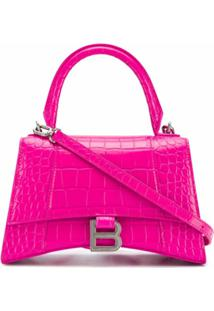 Balenciaga Bolsa Tote Hourglass Pequena - Rosa