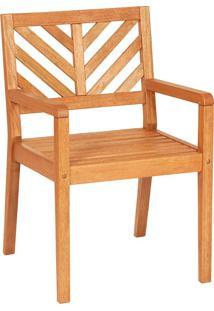 Cadeira Com Braços Madeira Maciça Mestra Móveis Linha Eko Design By Alain Blatché