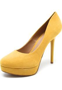 Scarpin Fiveblu Liso Amarelo