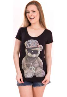 T-Shirt Tok Fashion Urso Preto