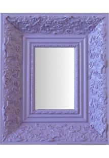 Espelho Moldura Rococó Fundo 16224 Lilás Art Shop