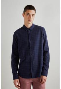 Camisa Regular Ft Sergipe Reserva - Masculino-Marinho