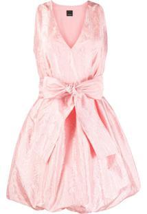 Pinko Vestido De Cetim - Rosa