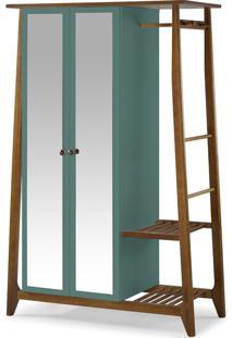 Armário Multiuso 2 Portas Stoka 982 Nogal/Azul Claro - Maxima