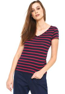 Camiseta Malwee Listras Azul-Marinho
