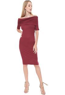 Vestido Calvin Klein Marsala feminino   Gostei e agora  65c9c6d2f3