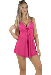 Camisola Anitta 4 Estações Lisa Feminino Pijama Confortavel Rosa