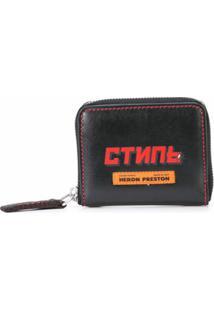 Heron Preston Carteira Com Estampa De Logo - Preto