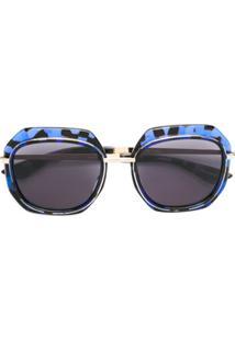 Emmanuelle Khanh Oversized Frame Sunglasses - Azul