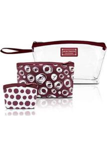 Kit De Necessaires Pequenas Jacki Design Pop Art - Feminino-Vinho