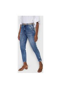 Calça Jeans Lez A Lez Slim Estonada Azul