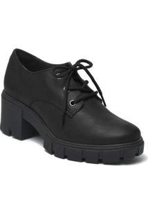 Sapato Oxford Feminino Via Marte Robusto Preto
