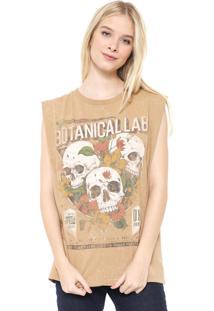 Camiseta Colcci Botanicallab Bege