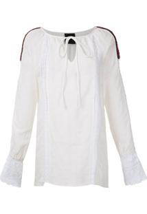 Andrea Bogosian Vestido Ponto Couture Detalhes Bordados - Branco