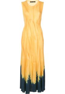 Proenza Schouler Vestido Tie-Dye Com Detalhe De Nó - Amarelo