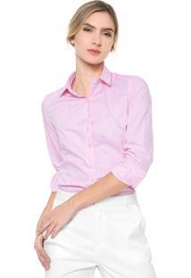 Camisa Dudalina Lisa Rosa