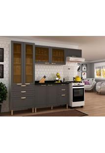 Cozinha Compacta Nevada Iii 7 Pt 6 Gv Branca E Grafite