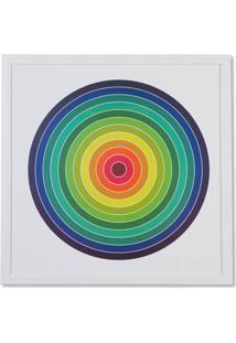 Quadro Em Madeira Gravura Circles 64Cm Colorido