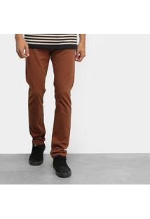 Calça Sarja Element Essential Brown Masculina - Masculino-Marrom
