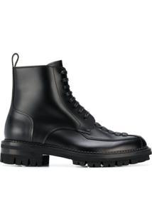Dsquared2 Ankle Boot Com Detalhe Trançado - Azul