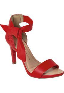 Sandália Dakota Vermelha Com Fechamento Em Laço