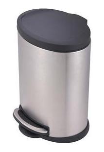 Lixeira M Mor Com Tampa Onix 8231 Em Aço Inox - 12 L