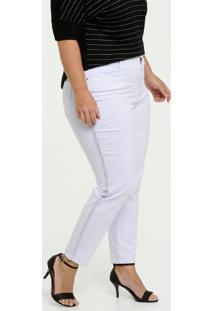 Calça Feminina Sarja Skinny Bolsos Plus Size Marisa